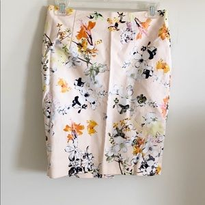 Cynthia Rowley Floral Pencil Skirt
